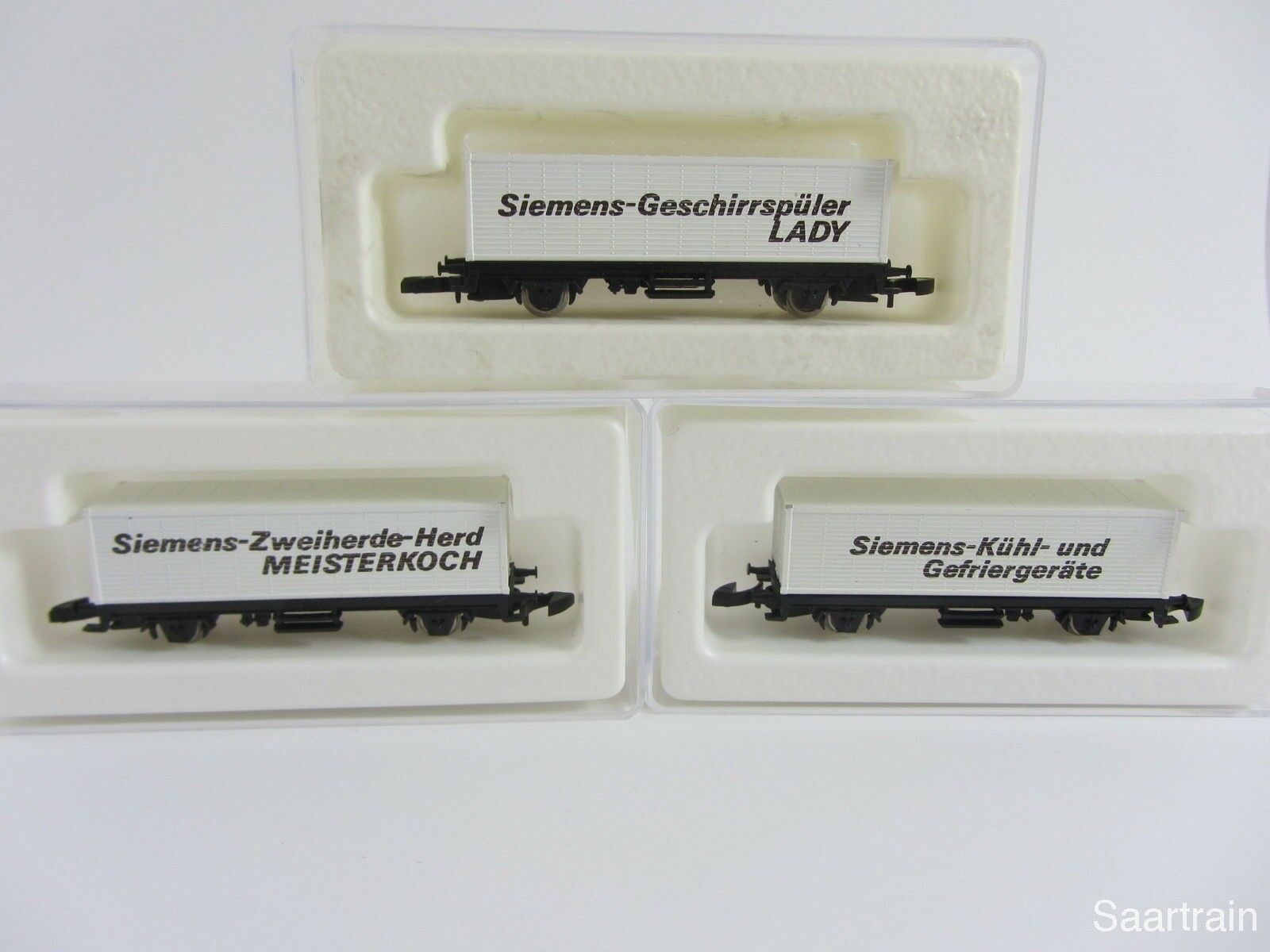 8615 CARRO CONTAINER 3 diversi Siemens pubblicitari CARRELLO CON BOX