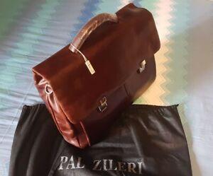 PAL-ZILERI-uomo-Vera-Pelle-Business-Valigetta-Borsa-Laptop-a-Tracolla