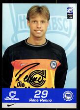 Rene Renno AUTOGRAFO scheda Hertha BSC Berlin 1999-00 ORIGINALE FIRMATO + a 72811