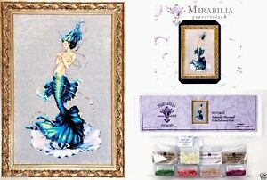 Mirabilia-Cross-Stitch-Chart-with-Embellishment-Pack-APHRODITE-MERMAID-144-Sale