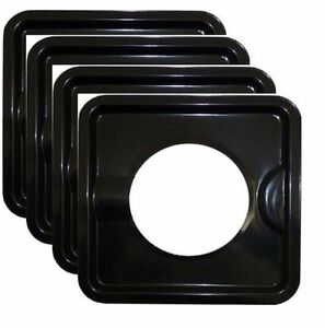 Stove Set Of 4 7 8 Inch Wide Burner Liner Drip Pan