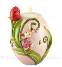 Goebel Hase Teelichthalter Ei Tulpe Neu 2014 Frühlingserwachen Ostern