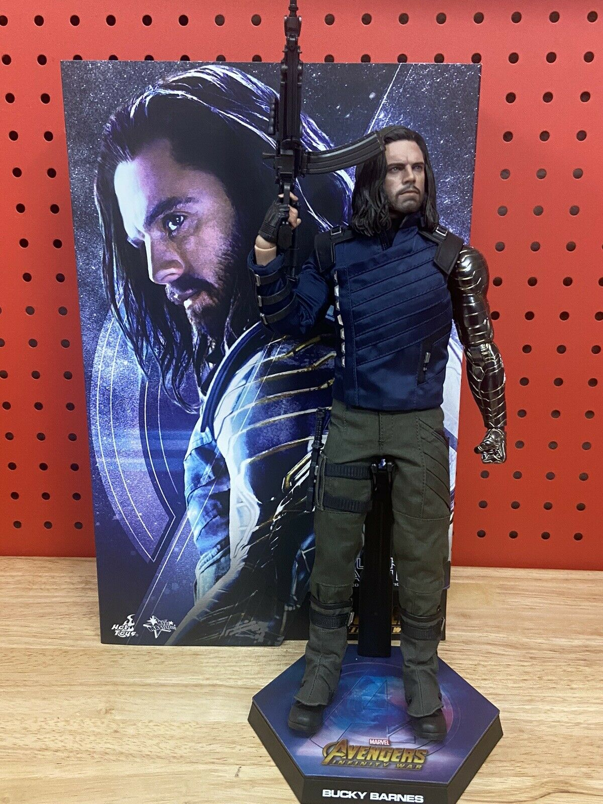 Hot Toys Bucky Barnes 1/6th Scale Collectible Figure mms509 used preowned  on eBay thumbnail
