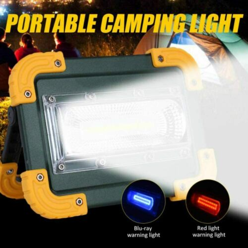 8000lm COB LED Work Light Rechargeable Inspection Flashlight Flood Lamp stand UK