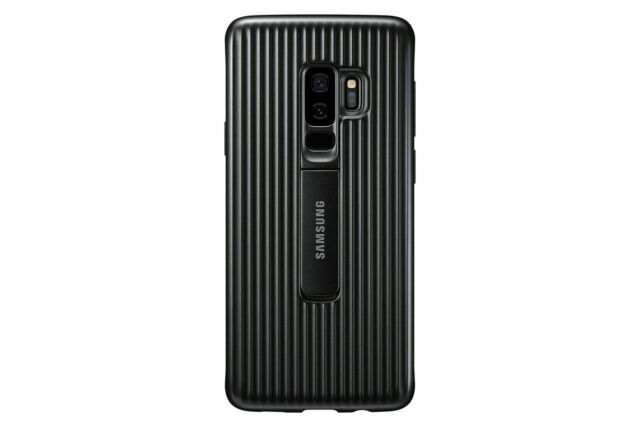 new concept e0c62 82425 Samsung Galaxy S9 Rugged Military Grade Protective Case With Kickstand Black