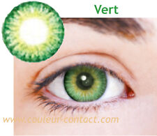 SALE: LENTILLE DE COULEUR VERT COLOUR LENS VERRE CONTACT YEUX FONCES DARK EYES