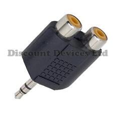 RCA/Jack Adaptor,  Coupler 2xRCA Socket - 3.5st Plug