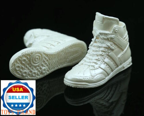 """1//6 Female Sneakers Shoes WHITE For 12/"""" PHICEN Hot Toys VERYCOOL Figure ❶USA❶"""