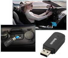 AUDIO RICEVITORE AUX USB 3.5mm BLUETOOTH AUTO ADATTATORE CASSE MUSICA