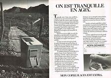 PUBLICITE ADVERTISING 104  1981  AGFA COPIE    copieur  ( 2 pages)