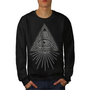 Black da Felpa uomo Art Illuminati Eye New Yqdwzq