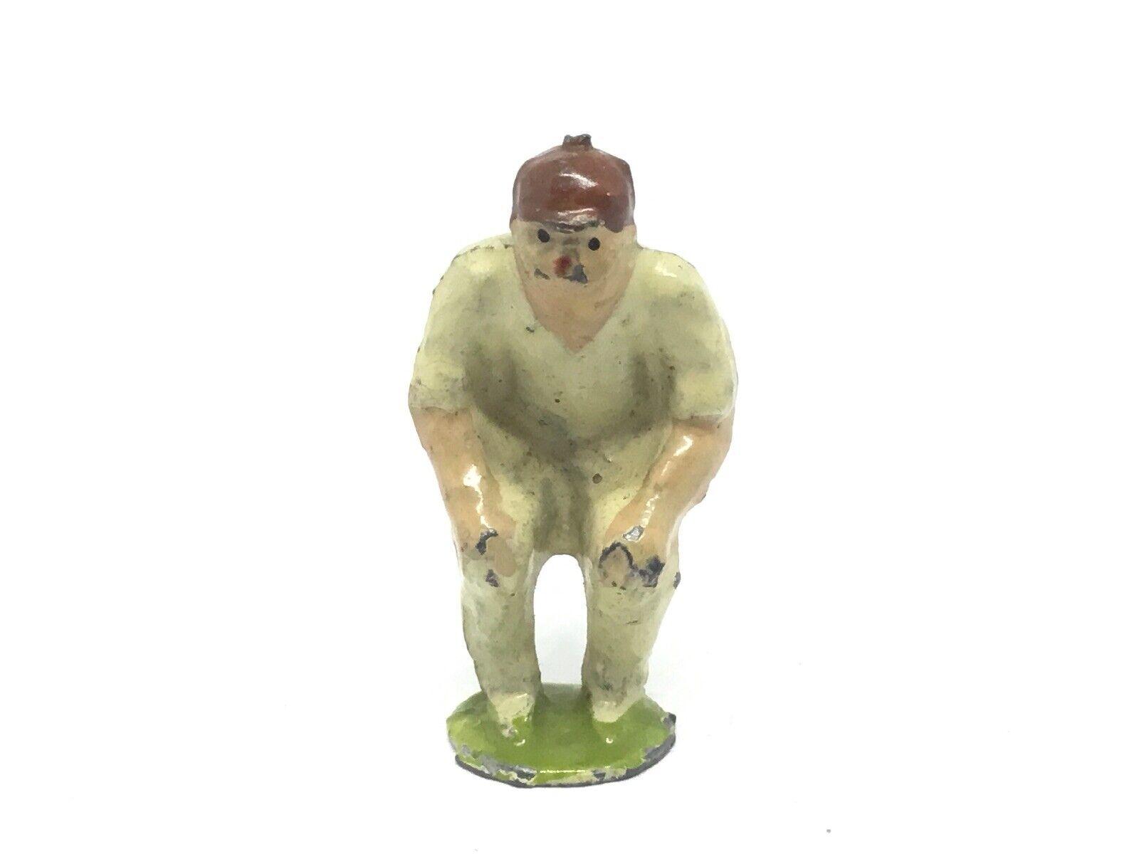 Pixyland, Cricketer Slip Fiulder (Ref W 231) Metal, Sports Figur, Round Base