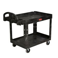 Rubbermaid Commercial 452088bk Heavy Duty 2 Shelf Utility Cart Black New