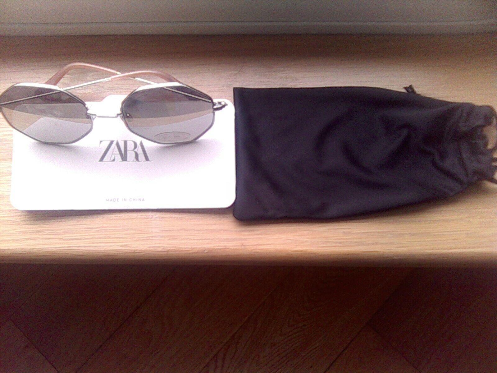 Gafas de sol las señoras:: Zara ocho caras Gafas de sol con brazos de color rubor/Co