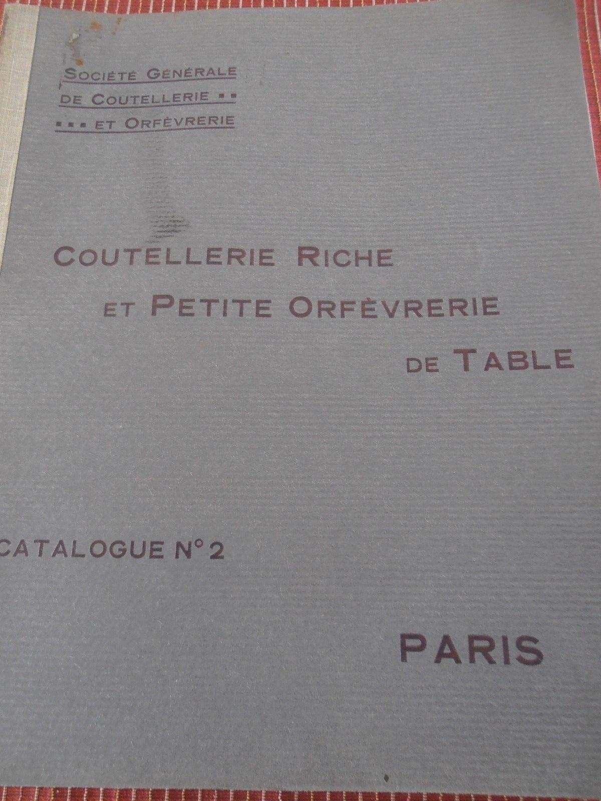 CATALOGUE DE COUTELLERIE ET ORFEVRERIE D'ART NOGENT ET THIERS 1914  ( ref 42 )