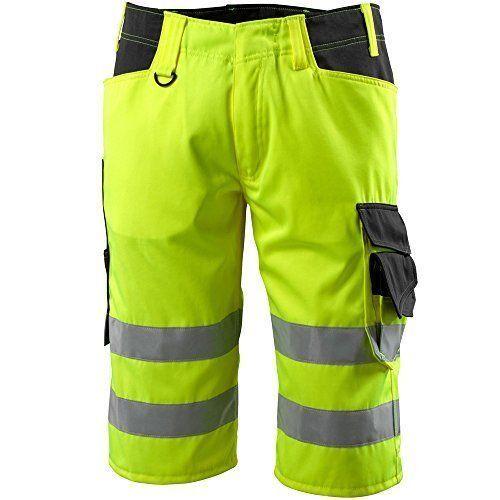 MASCOT Luton work shorts Trousers HI VIS YELLOW REFLECTIVE NEW Waist 32