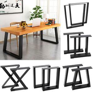 2 Industrial Metal Tzium Frame, Dining Room Table Legs Metal