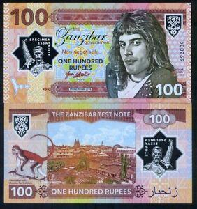 Zanzibar-Tanzania-100-Rupees-2018-Private-Clear-Window-Polymer-Freddie-Mercury