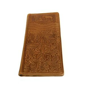Montana-West-Men-039-s-long-Wallet-Genuine-Tooled-Leather-Western-Cowboy-Wallet