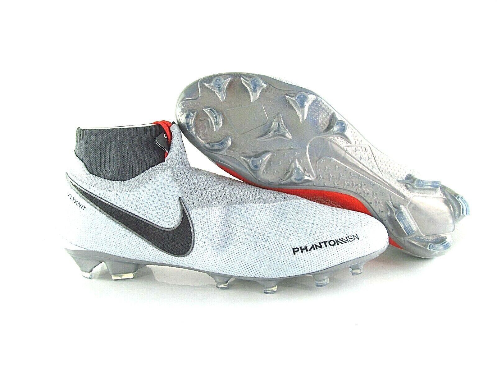 Elite VSN fantasma Nike DF FG gris rojo AO3262 060 US_13 Eur_47. 5