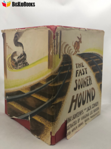 Fast-Sooner-Hound-Bontemps-Virginia-Lee-Burton-1942-Early-Edition-Dust-jacket
