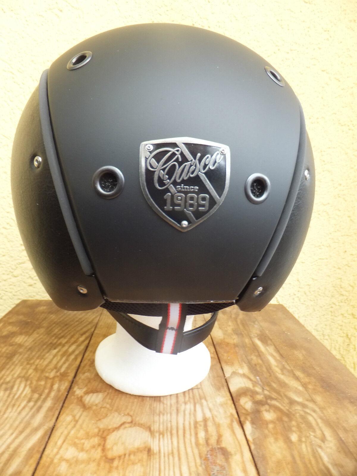 CASCO spirit-6 Reithelm schwarz Glattleder Glattleder schwarz VG1.01 Siegel  Modell 2015 1338c4