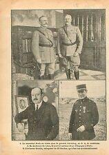 Maréchal Foch General Pershing GQG US Army Aviateur Guérin Quinones de Léon WWI
