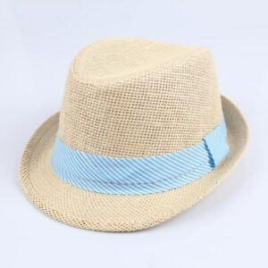 Kids boys girls cowboy summer breathable hat straw sun hat children hats