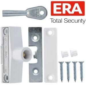 ERA-WHITE-KEYED-WINDOW-LOCK-Extra-Home-Security-Timber-Wood-Frame-Latch-Catch