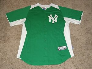New York Yankees St Patrick s Day Authentic Majestic Cool Base MLB ... 46159d23bfb