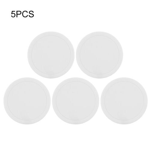 5PCS Round Silicone Insulation Non-slip Drink Coaster Cup Glass Beverage Pad Mat