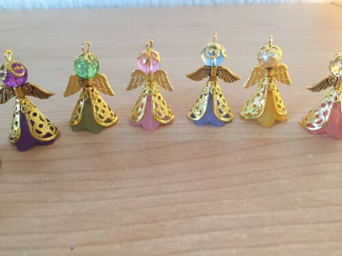 10 Gold Angels Frosted Flower Bead Filigree Cone Bead Cap Wings Beads Charms