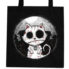 Zombie Cat - Tote Bag Ladies Womens Goth Rock Kitty Undead Corpse Nightmare