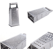 Chocolates Shanasana 4 Sided 10 Box Cheese Grater PREMIUM STRENGTH STAINLESS STEEL Fruits Vegetables - Soft Ergonomic Handle with Non-Slip Bottom More! Perfect for Grading Cheeses