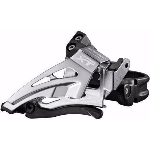 FD-M80 Low Clamp Shimano XT M8025-L Band On 2x11 Front Derailleur Black//Silver