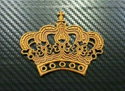 Embroidered Patch Iron Sew Logo king queen kid IMPERIAL CROWN