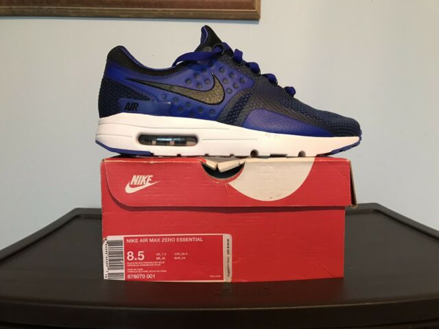 super popular 174ce cacbe Nike Air Max Zero Essential sz 8.5 Paramount Blue 876070-001 Running Shoes  1 New