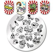 BORN PRETTY Round Nail Art Stamp Template Wow Makeup Design Image Plate BP-127