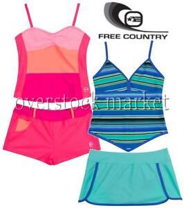5b1cae2b61 NEW GIRLS FREE COUNTRY 2 PIECE SWIMSUIT SWIM SET! VARIETY COLORS ...