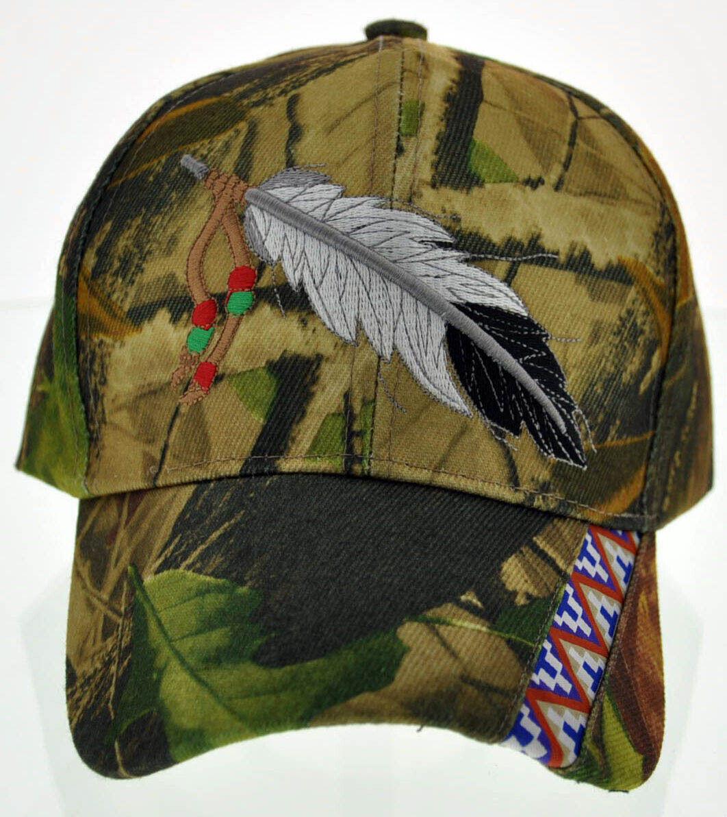 ! nuevo! orgullo Indio Nativo Plumas Grande lado americano Gorra Sombrero Camo