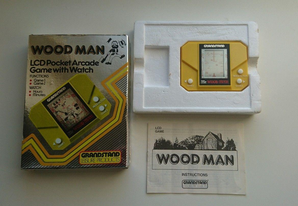 MR. WOOD MAN (Grandstand Epoch) Vintage 1982 LCD Handheld Game Watch