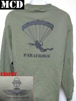 Usmc Force Recon Long Sleeve T-shirt/ Mcd/ Parafrogs/ Military/ Marines/
