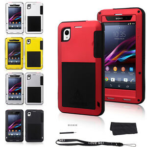 innovative design 62c2c 3ba2a Details about Waterproof Aluminum Gorilla Metal Cover Case for Sony Xperia  Z1 Z2 Z3