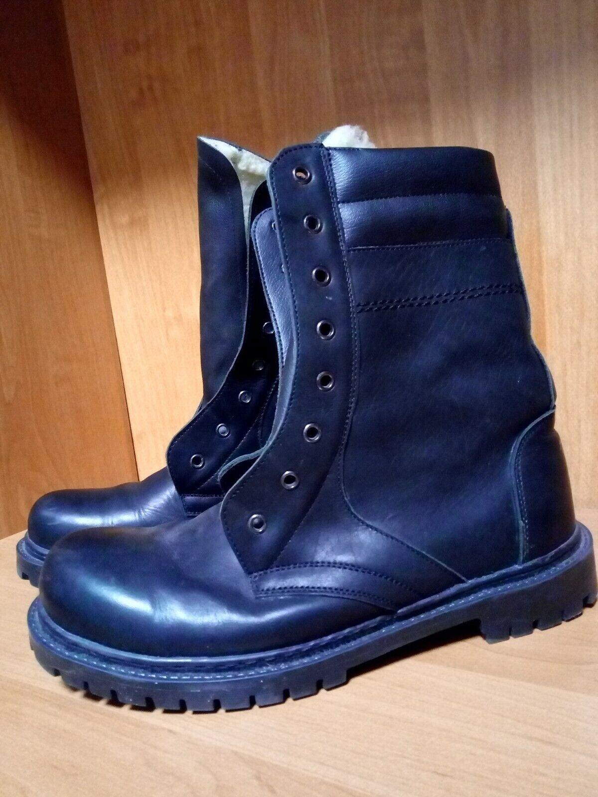 Warm Leather Combat Boots * Ukraine