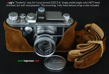 LUIGI NEW TENDERLY CASE for LEICA IIIG-IIIF-IIIC,FULLY LINED STRAP+UPS INCLUDED