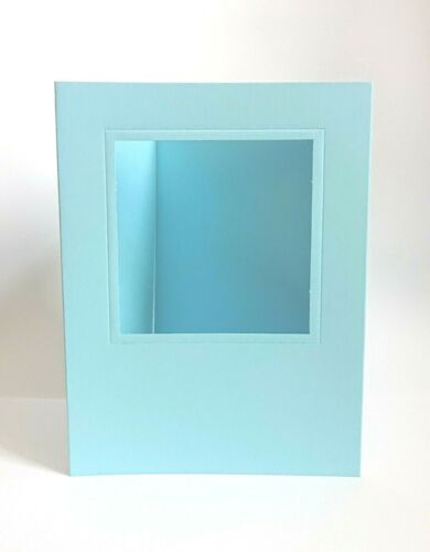 Pack Of 5 x C5 Baby Blue Square Aperture Cards With Envelopes