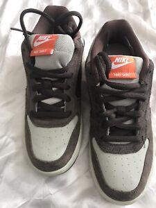 a8511b156 New Nike Skeet Skateboarding Shoe Casual Brown Tan Gray Leather Shoe ...