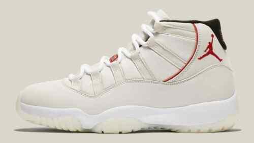 378037-016 2018 Nike Air Jordan 11 XI Retro Platinum Tint Sail Red Size 12