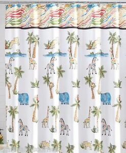 Image Is Loading Saturday Knight Fabric Shower Curtain Safari Palm Trees