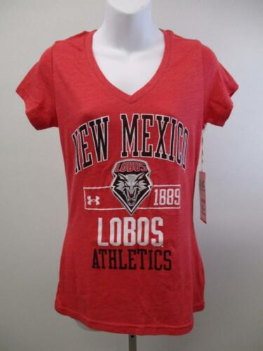 New Mexico Lobos Womens Sizes S-M-XL Under Amour Semi-fit V-Neck Shirt $30